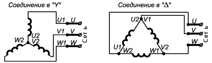 Схема подключения двигателей ВРА132