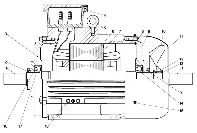 Конструкция двигателей ВРА 132